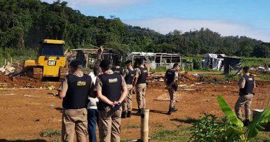 ok imagens PM reintegracao de posse coronel pacheco 8 390x205 - Reintegração de posse: MST desocupa fazenda em Coronel Pacheco