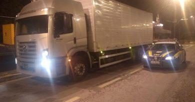 prf roubo 390x205 - PRF de Juiz de Fora recupera caminhão roubado em Além Paraíba