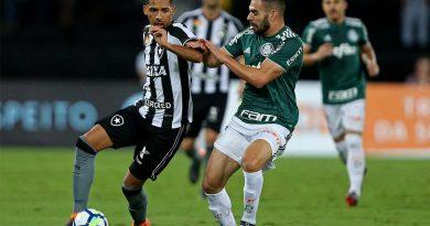 foto botafogo e palmeiras 4 2018 390x205 - Brasileirão: Botafogo empata com o Palmeiras