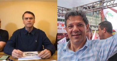foto bolsonaro haddad candidato presidente 390x205 - Candidatos à presidência assinam carta de compromisso com a Associação Brasileira de Imprensa