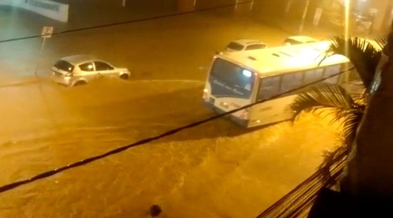 chuva barbacena santos dumont capa - Chuva causa estragos em Barbacena e Santos Dumont