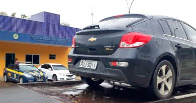 foto prf roubado 390x205 - Leopoldina: Polícia Rodoviária recupera carro roubado