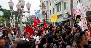 JF: Ato em protesto contra a reforma da Previdência