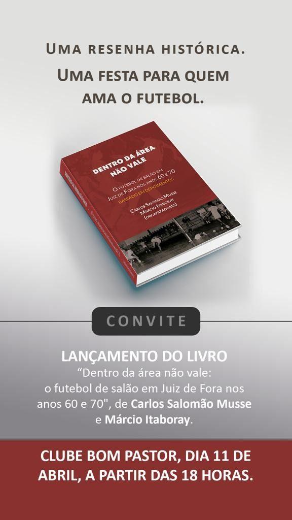 livro 576x1024 - Livro aborda história do futebol de salão nos anos 60 e 70 em JF