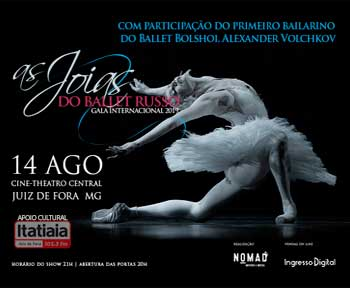 'As Joias Do Ballet Russo' em Juiz de Fora