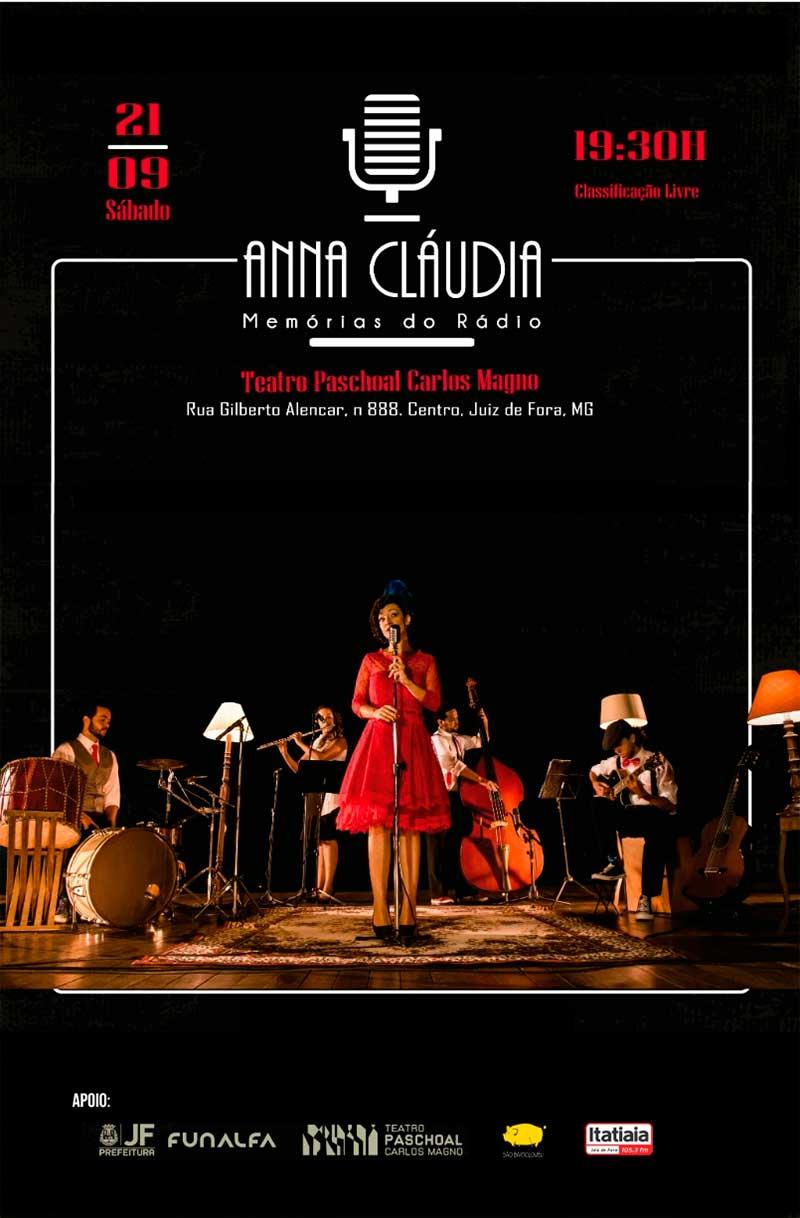 """cartaz memorias do radio anna claudia - Show """"Anna Cláudia - Memórias do Rádio"""""""