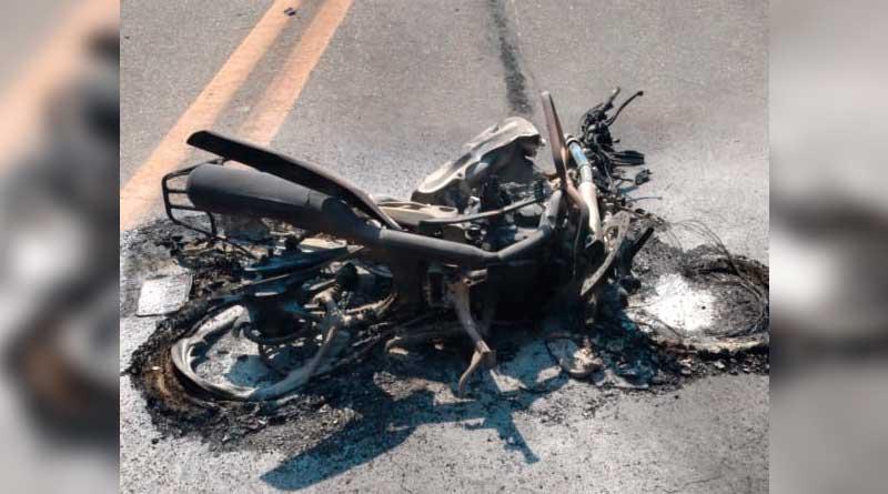 foto bombeiros acidente moto - BR-040: Acidente deixa vítima fatal em Barbacena