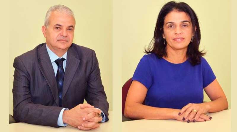 foto montagem Marcus David e Girlene Alves da Silva - Novo reitor da UFJF: Atual e vice-reitora compõem chapa única para a Consulta Pública 2019