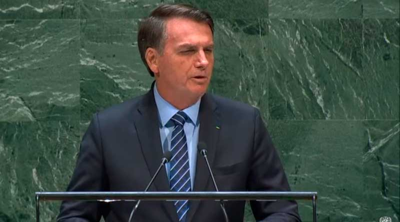 foto print discurso bolsonaro onu - Presidente Bolsonaro faz discurso na ONU