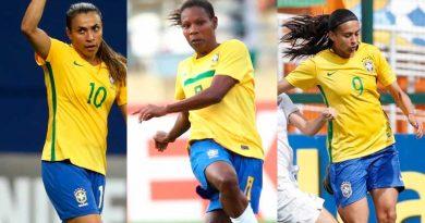 foto selecao feminina indicacao 390x205 - Marta, Formiga e Andressa concorrem à seleção do ano