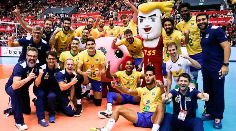 foto cbv volei masculino - Vôlei: Brasil é tricampeão mundial antecipado