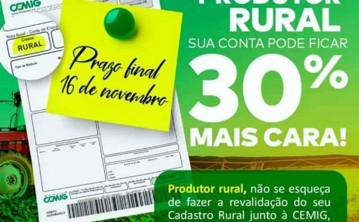 cemig recad rural 720x445 - Produtores rurais devem atualizar o cadastro na Cemig
