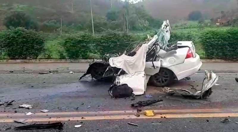 foto prf acidente juiz de fora - BR-040 tem acidente grave em Juiz de Fora