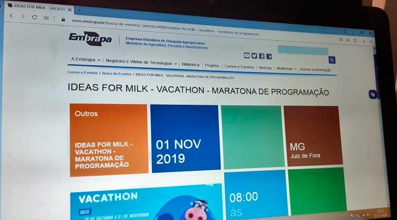 foto vacathon embrapa juiz de fora - Embrapa promove evento para criação de soluções digitais