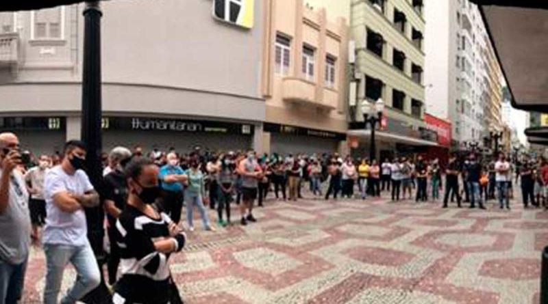 lojistas protesto
