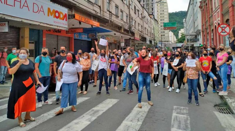 comerciantes protesto